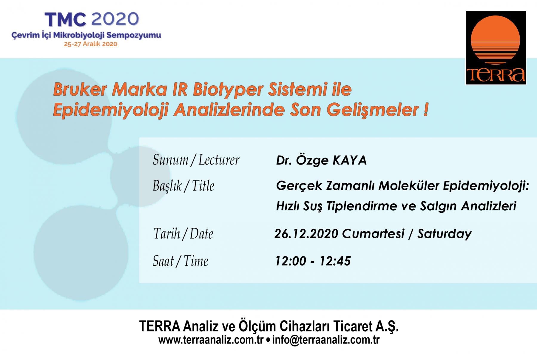 TMC 2020 ÇEVRİM İÇİ MİKROBİYOLOİ SEMPOZYUMU